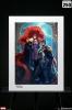 Sideshow: Black Bolt & Medusa Art Print