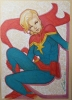 Avengers: Captain Marvel Pin Up Original Art
