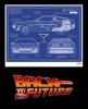 Back to the Future Art Print Blue Print