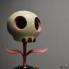 """DKE - 12"""" Skull Flower by Tara McPherson"""