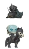 Funko - LOTR & GOT POP! Rides Vinyl Figures