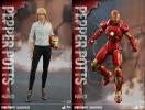 "Hot Toys Iron Man 3 Pepper Potts + Mark IX 12"" Figure Set"