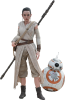 "Hot Toys Star Wars The Force Awakens Rey & BB8 12"" figure set"