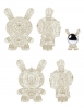 "Kidrobot: White 8"" Arcane Divination The Clairvoyant Dunny"