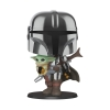 Star Wars: The Mandalorian holding The Child